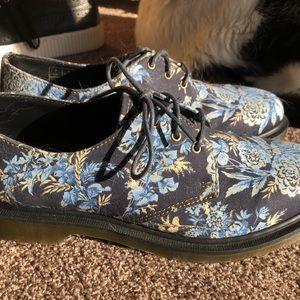 Doc Martens blue floral oxfords
